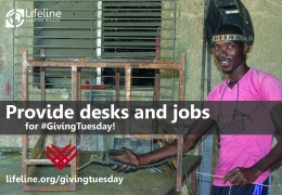 Provide desks and jobs for #GivingTuesday