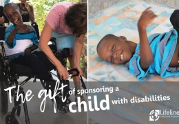 The gift of sponsoring a child with disabilities